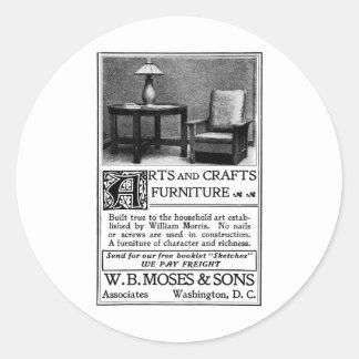 古い広告芸術および技術の家具 ラウンドシール