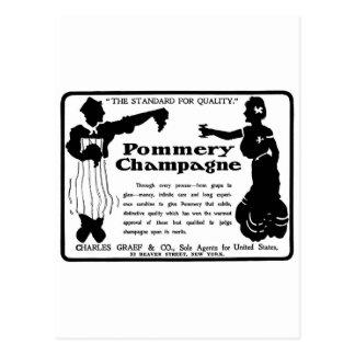 古い広告Pommeryシャンペン ポストカード