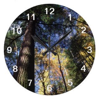 古い成長のアメリカツガ木 ラージ壁時計