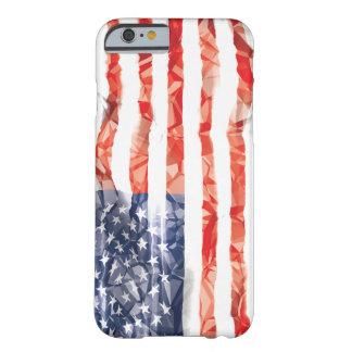 古い折り目を付けられていた米国旗 BARELY THERE iPhone 6 ケース