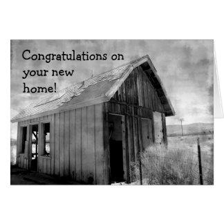 古い掘っ建て小屋の新しい家 グリーティングカード