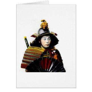古い日本ヴィンテージの戦士の侍の武士の戦士 カード