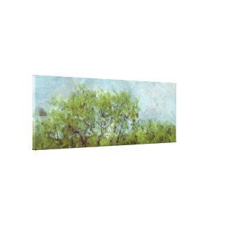 古い日除けの木(写真撮影からのデジタル絵画) キャンバスプリント