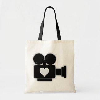 古い映画用カメラの食料雑貨のトート トートバッグ