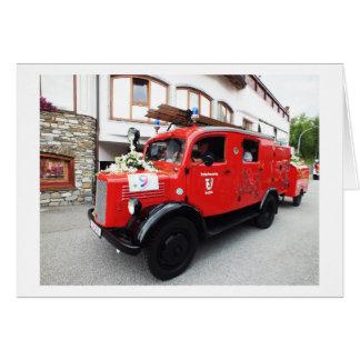 古い普通消防車 カード