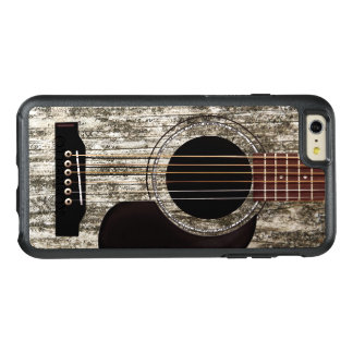 古い木のアコースティックギター オッターボックスiPhone 6/6S PLUSケース
