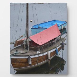 古い木のヨット フォトプラーク
