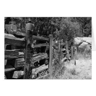 古い木の塀-空白のな挨拶状 カード