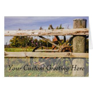 古い木の車輪、田園写真 カード