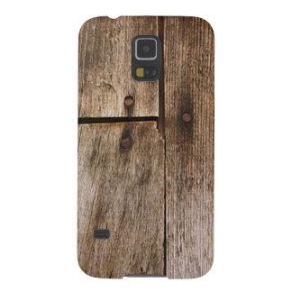 古い木製の一見のSamsungの銀河系の関連の場合 Galaxy S5 ケース