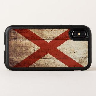 古い木製の穀物のアラバマの州の旗 オッターボックスシンメトリー iPhone X ケース