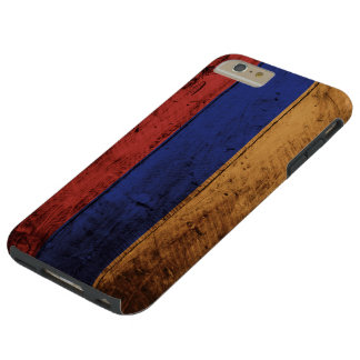 古い木製の穀物のアルメニアの旗 TOUGH iPhone 6 PLUS ケース