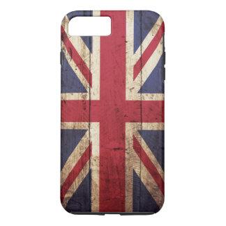 古い木製の穀物のイギリスの旗 iPhone 8 PLUS/7 PLUSケース