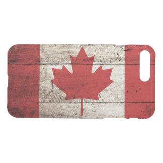 古い木製の穀物のカナダの旗 iPhone 8 PLUS/7 PLUS ケース