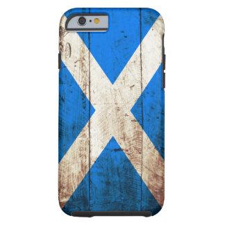 古い木製の穀物のスコットランドの旗 ケース