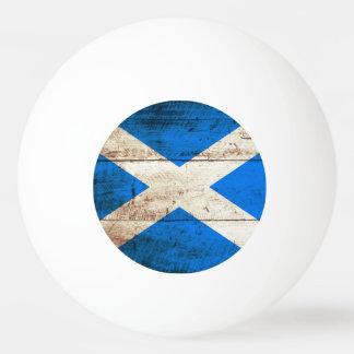 古い木製の穀物のスコットランドの旗 卓球ボール