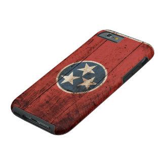 古い木製の穀物のテネシー州の州の旗 iPhone 6 タフケース