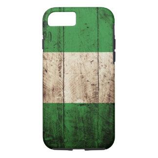 古い木製の穀物のナイジェリアの旗 iPhone 8/7ケース