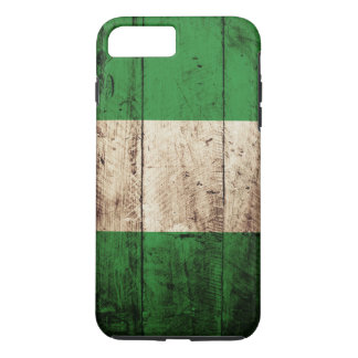 古い木製の穀物のナイジェリアの旗 iPhone 8 PLUS/7 PLUSケース