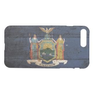 古い木製の穀物のニューヨーク州の旗 iPhone 8 PLUS/7 PLUS ケース