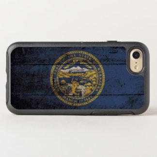 古い木製の穀物のネブラスカの州の旗 オッターボックスシンメトリーiPhone 8/7 ケース