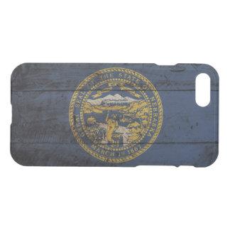 古い木製の穀物のネブラスカの州の旗 iPhone 8/7 ケース