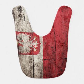 古い木製の穀物のポーランドの旗 ベビービブ