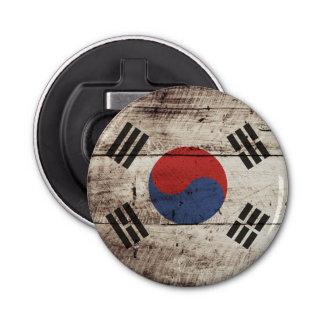 古い木製の穀物の南朝鮮の旗 栓抜き