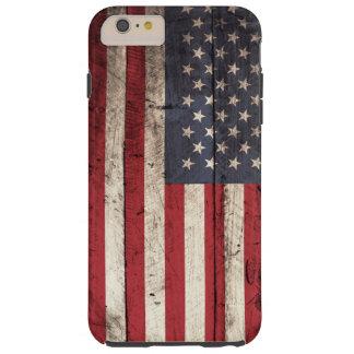 古い木製の穀物の米国旗 TOUGH iPhone 6 PLUS ケース