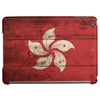古い木製の穀物の香港の旗 iPad AIRケース
