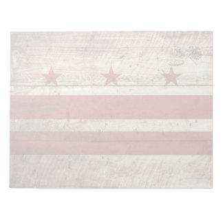 古い木製の穀物のWashington D.C.の旗 ノートパッド