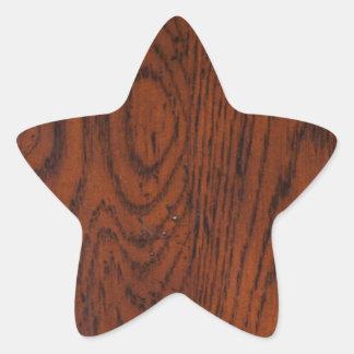 古い木製の穀物 星シール