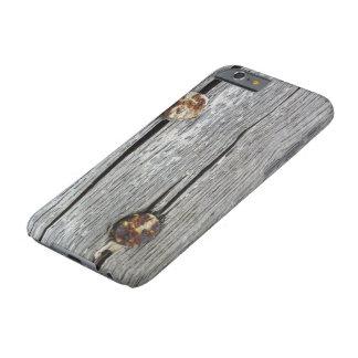 古い木製の芸術のiphone 6sの懸命の場合のネイル barely there iPhone 6 ケース