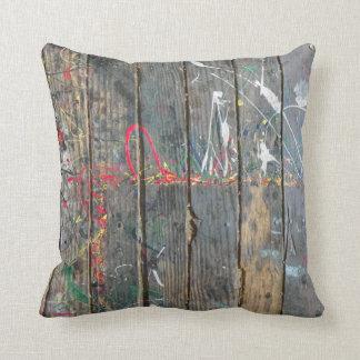 古い木製カバー枕! クッション