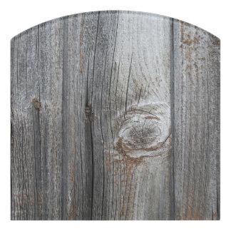 古い木製パターン ドアサイン