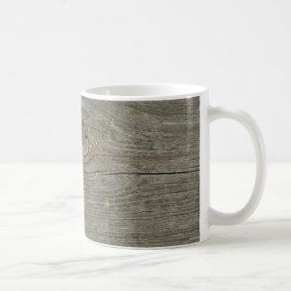 古い木製板質ノード繊維 コーヒーマグカップ