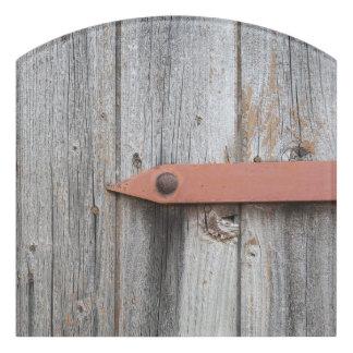 古い木 ドアサイン