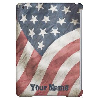 古い栄光のヴィンテージ名前入りなレトロ米国の旗