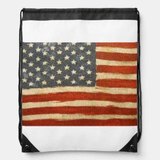 古い栄光の米国旗 ナップサック