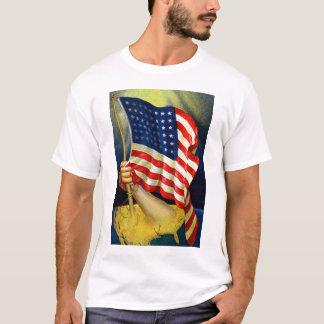 古い栄光の米国旗 Tシャツ