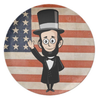 古い栄光Abeリンカーンおよびアメリカの星およびバーの プレート