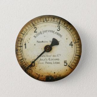 古い油圧のゲージ/楽器/ダイヤル/メートル 缶バッジ