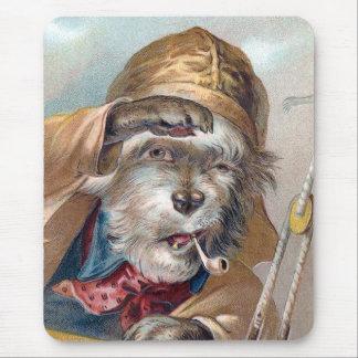 """""""古い海犬""""のヴィンテージ(TBAの勝者) マウスパッド"""