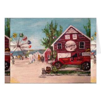 古い消防署、挨拶状のジュネーブの絵画 カード