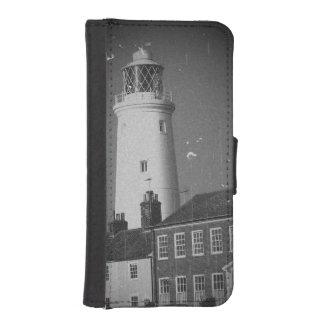 古い灯台ジョージ王朝の家のsesideの町の写真 iPhoneSE/5/5sウォレットケース