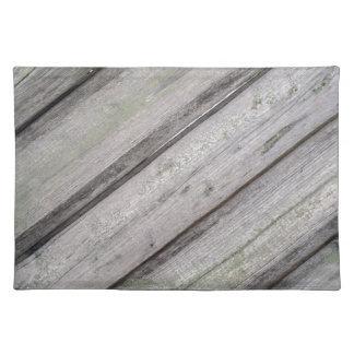 古い灰色の木の塀の詳細 ランチョンマット