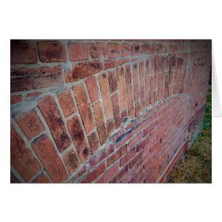 古い煉瓦建築のブランクの挨拶状 カード
