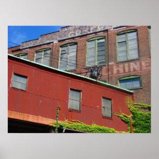古い産業倉庫の建物 ポスター