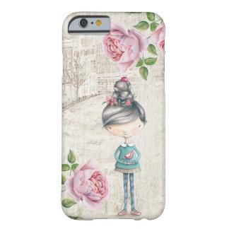 古い町のかわいい小さな女の子 BARELY THERE iPhone 6 ケース