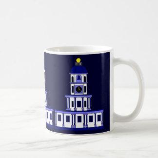 古い町の時計によってインスパイア、ハリファックス コーヒーマグカップ